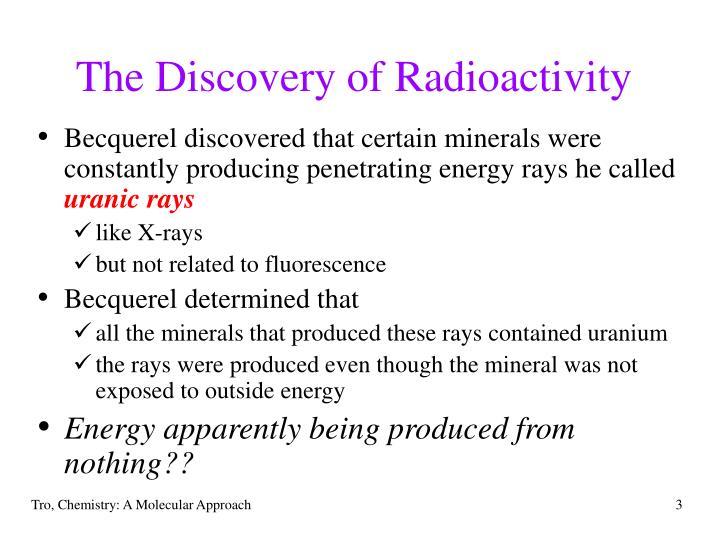 The discovery of radioactivity3
