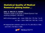 2002 g welch s gabbe statistics usage in the amer j obstet gynecol has anything changed 180 584 6