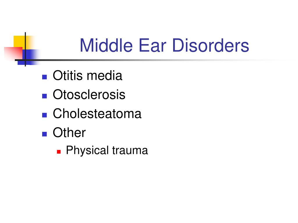 Middle Ear Disorders