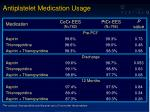 antiplatelet medication usage