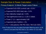 sample size power calculation