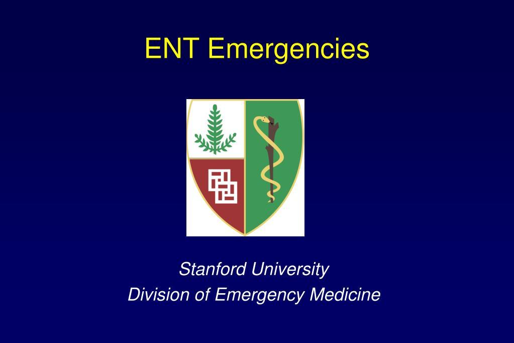 ent emergencies l.