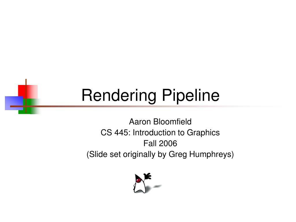 rendering pipeline l.