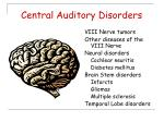 central auditory disorders