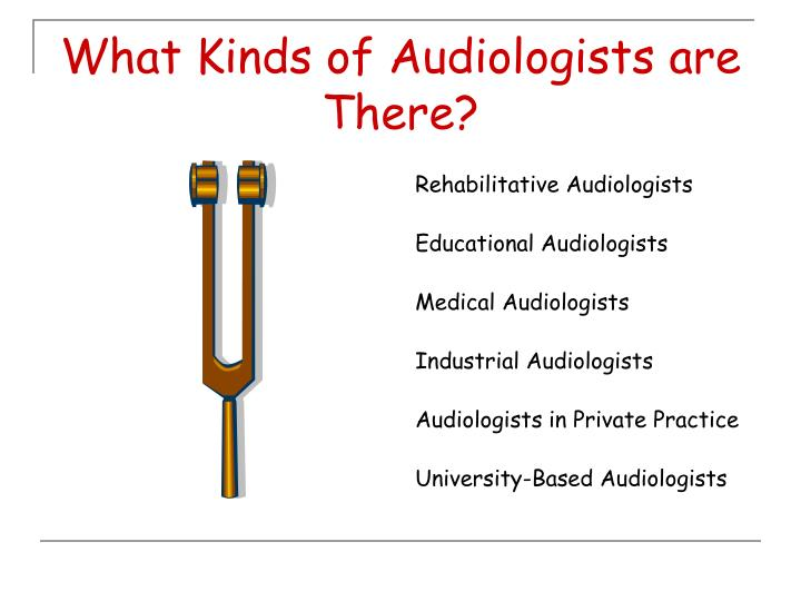 What kinds of audiologists are there