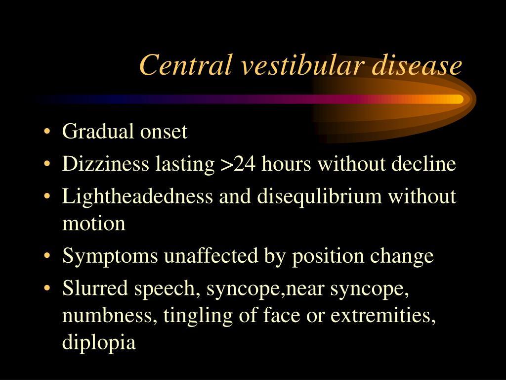 Central vestibular disease
