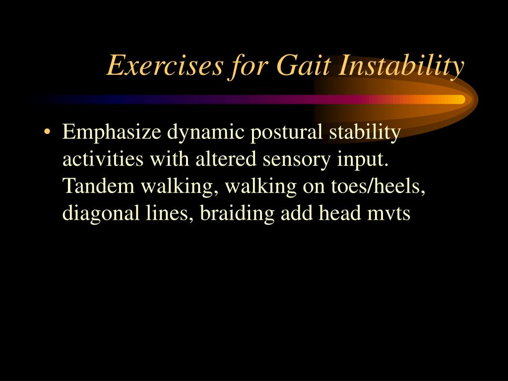 Exercises for Gait Instability