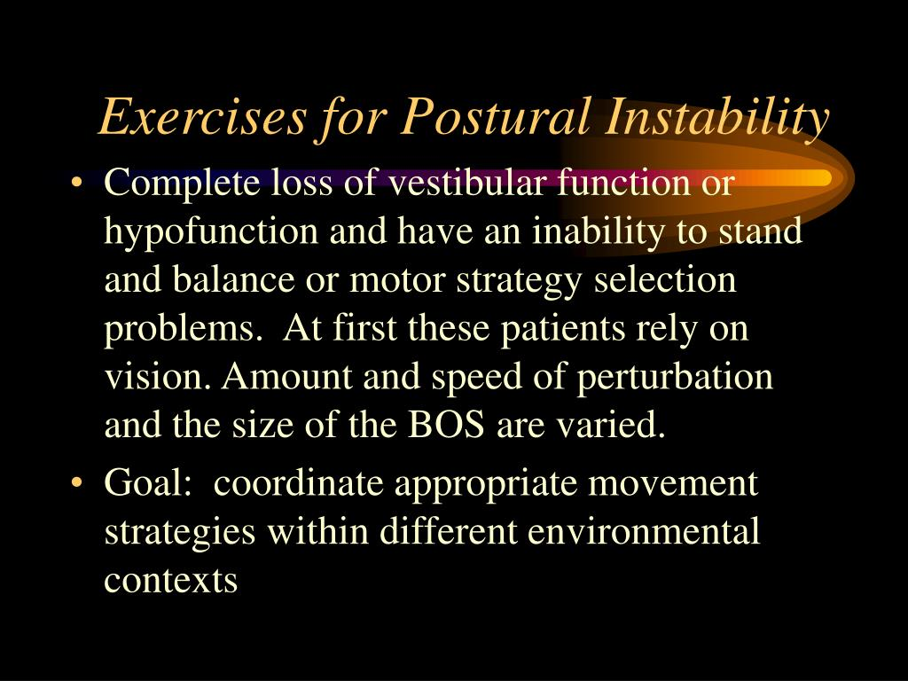 Exercises for Postural Instability