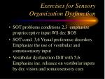 exercises for sensory organization dysfunction