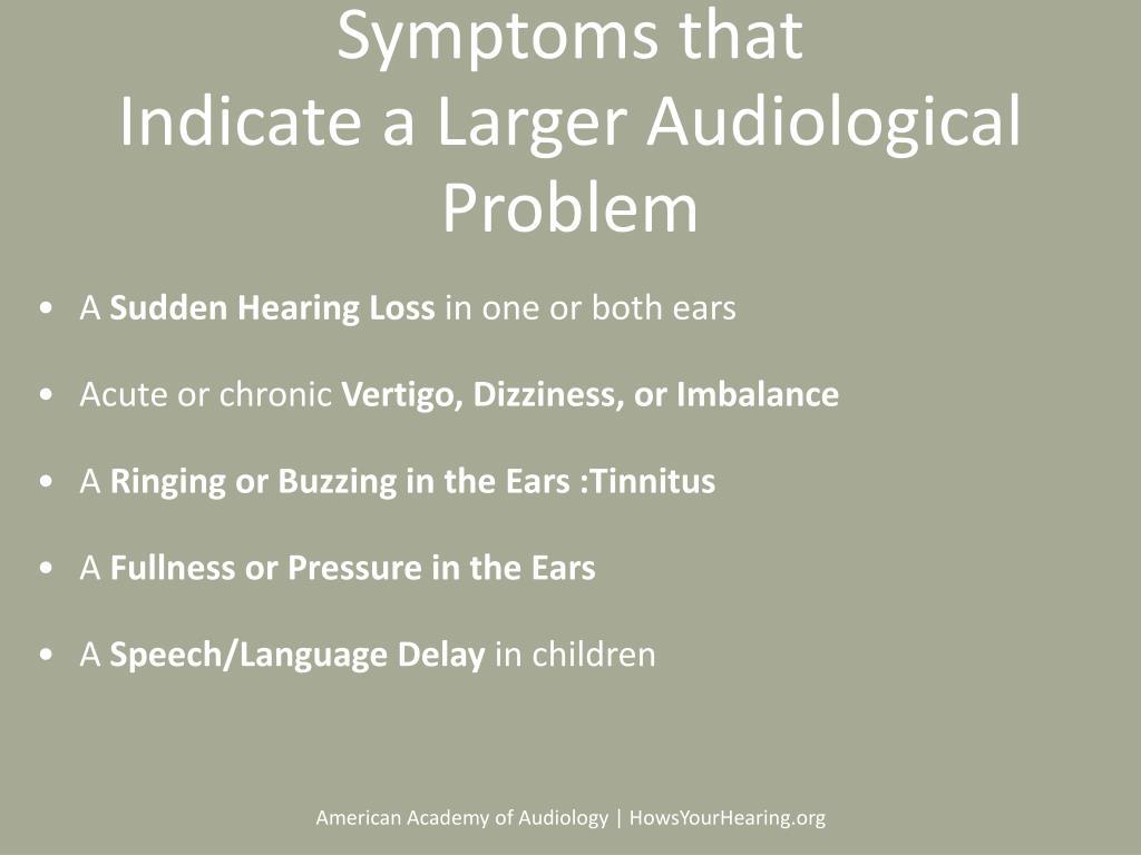 Symptoms that