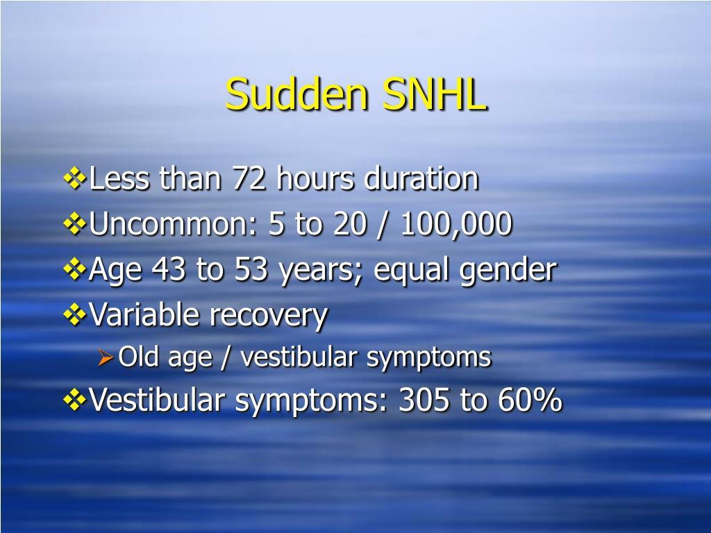 Sudden SNHL