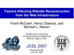 factors affecting website reconstruction from the web infrastructure