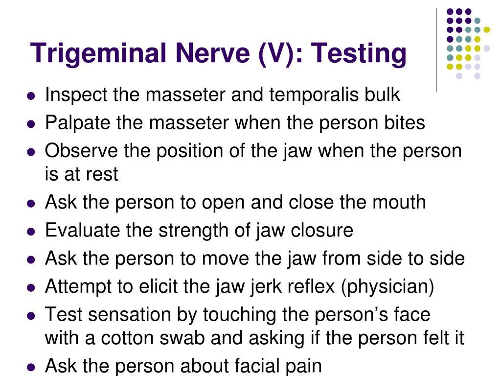 Trigeminal Nerve (V): Testing