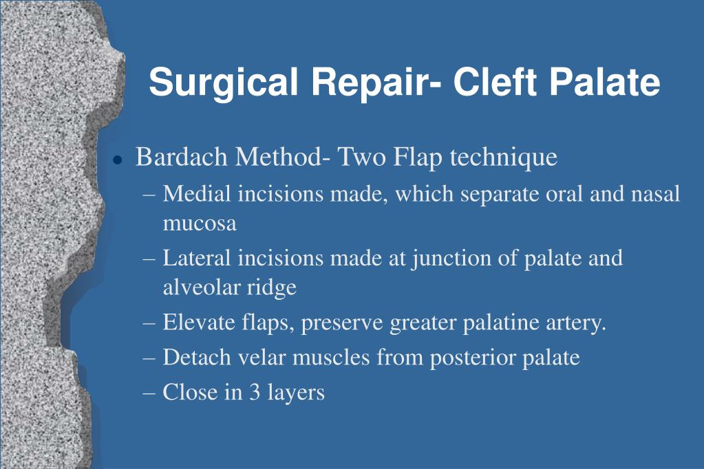 Surgical Repair- Cleft Palate