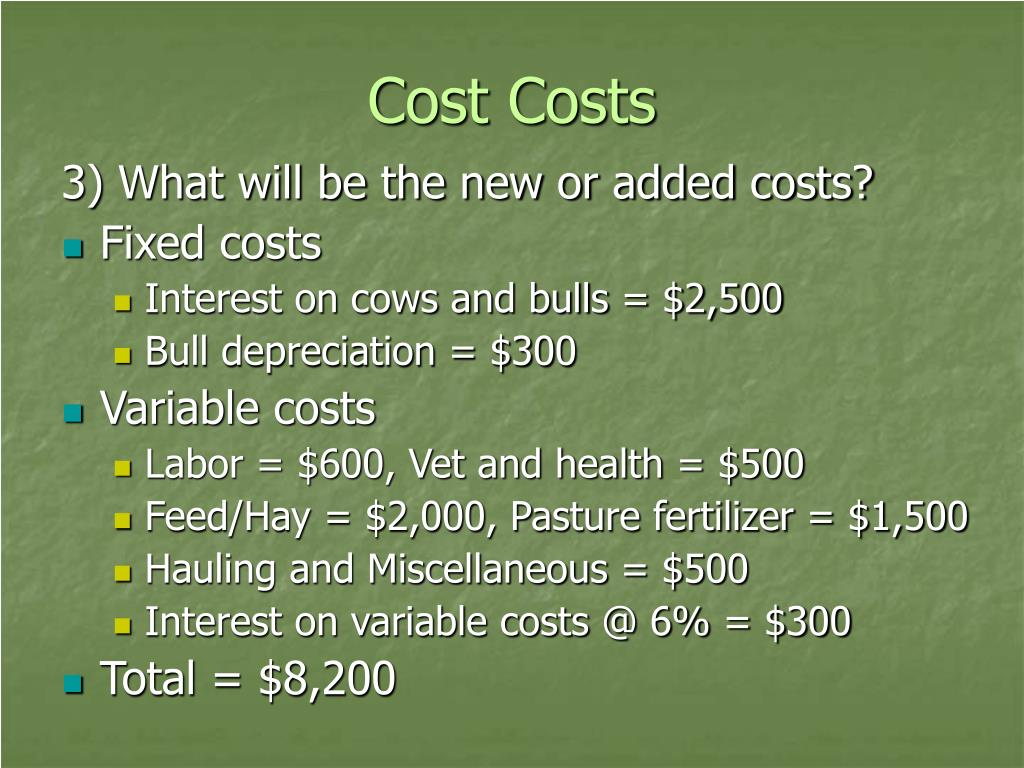 Cost Costs