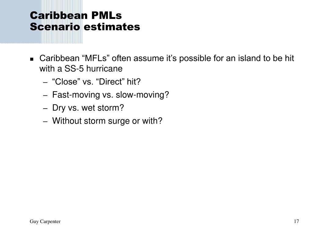 Caribbean PMLs