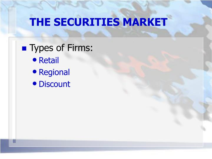 The securities market3