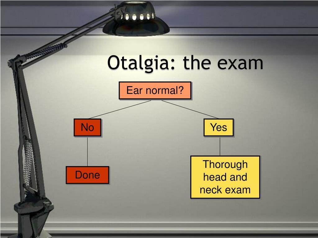 Otalgia: the exam