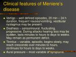 clinical features of meniere s disease