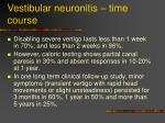 vestibular neuronitis time course