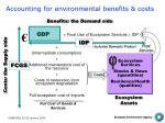 accounting for environmental benefits costs