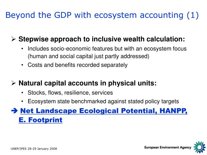 Beyond the GDP with ecosystem accounting (1)