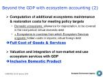 beyond the gdp with ecosystem accounting 2