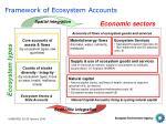 framework of ecosystem accounts