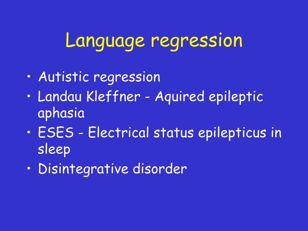 Language regression
