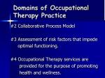 domains of occupational therapy practice7