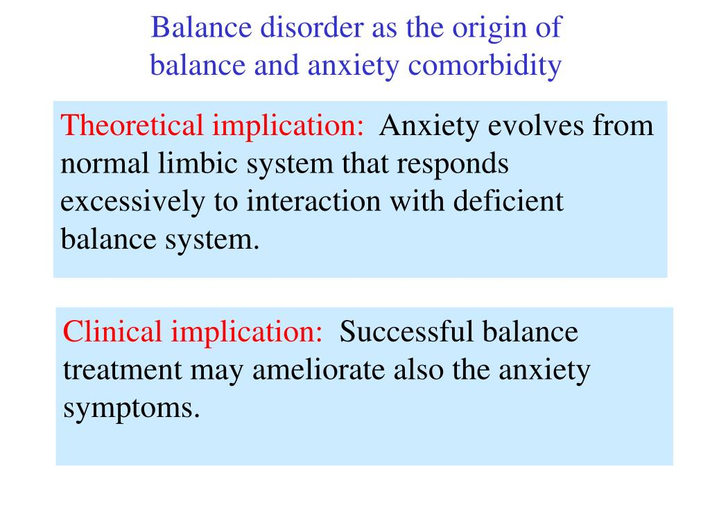 Balance disorder as the origin of