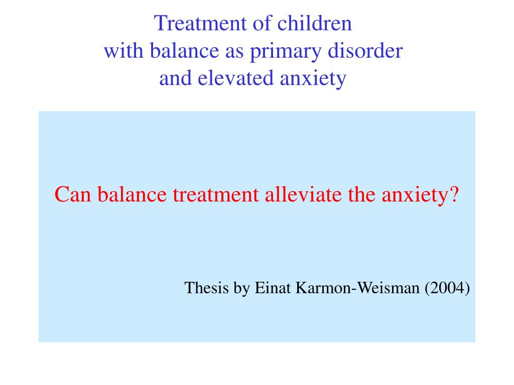 Treatment of children