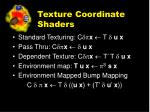 texture coordinate shaders