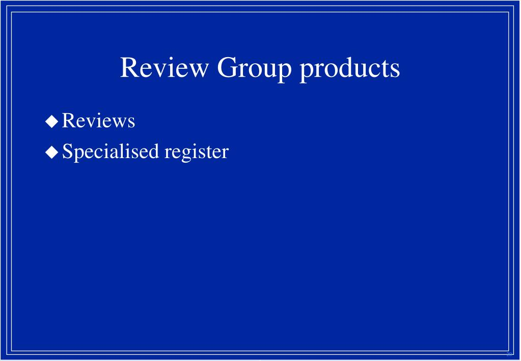 Review Group products