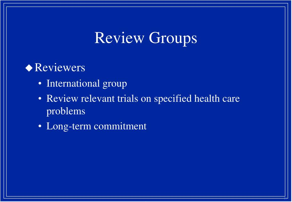 Review Groups