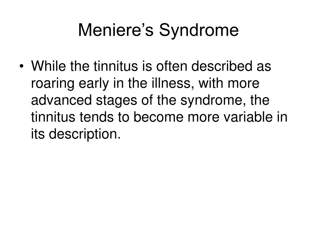 Meniere's Syndrome