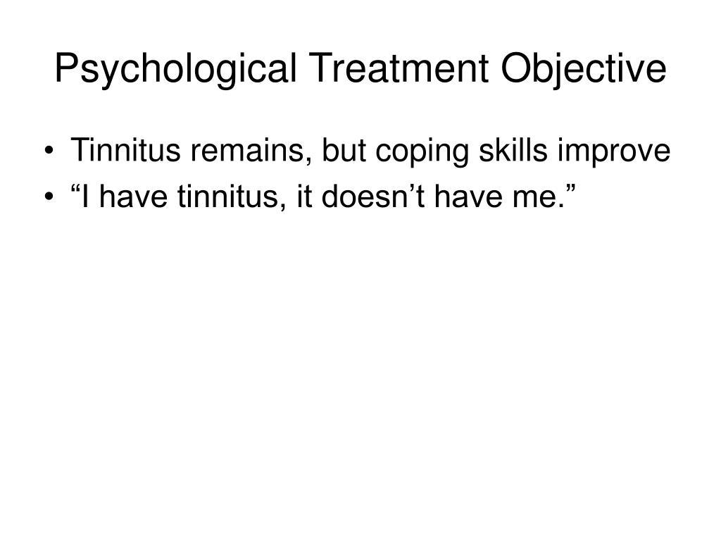 Psychological Treatment Objective