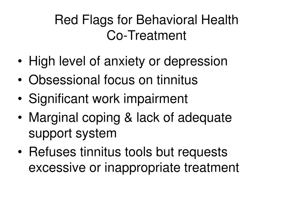 Red Flags for Behavioral Health