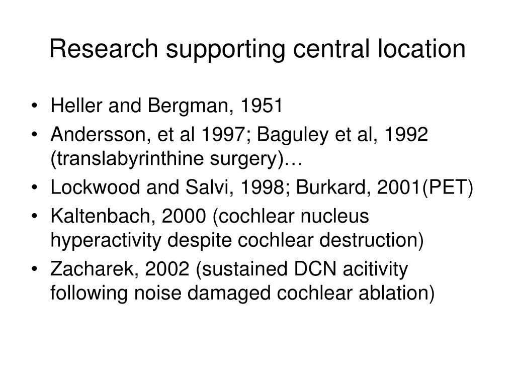 Research supporting central location
