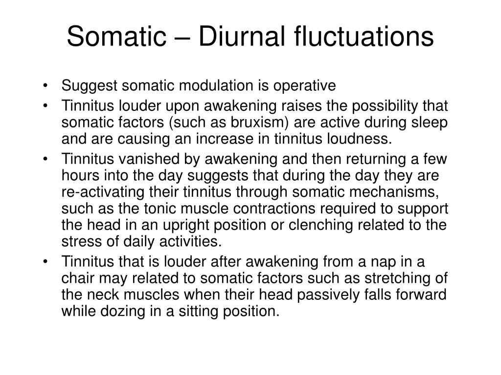 Somatic – Diurnal fluctuations