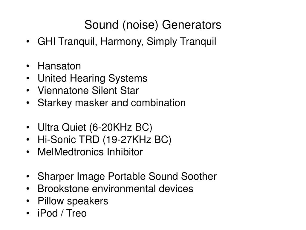 Sound (noise) Generators