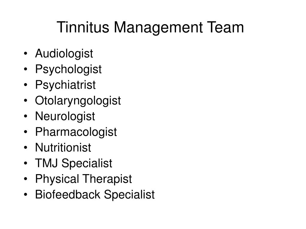 Tinnitus Management Team