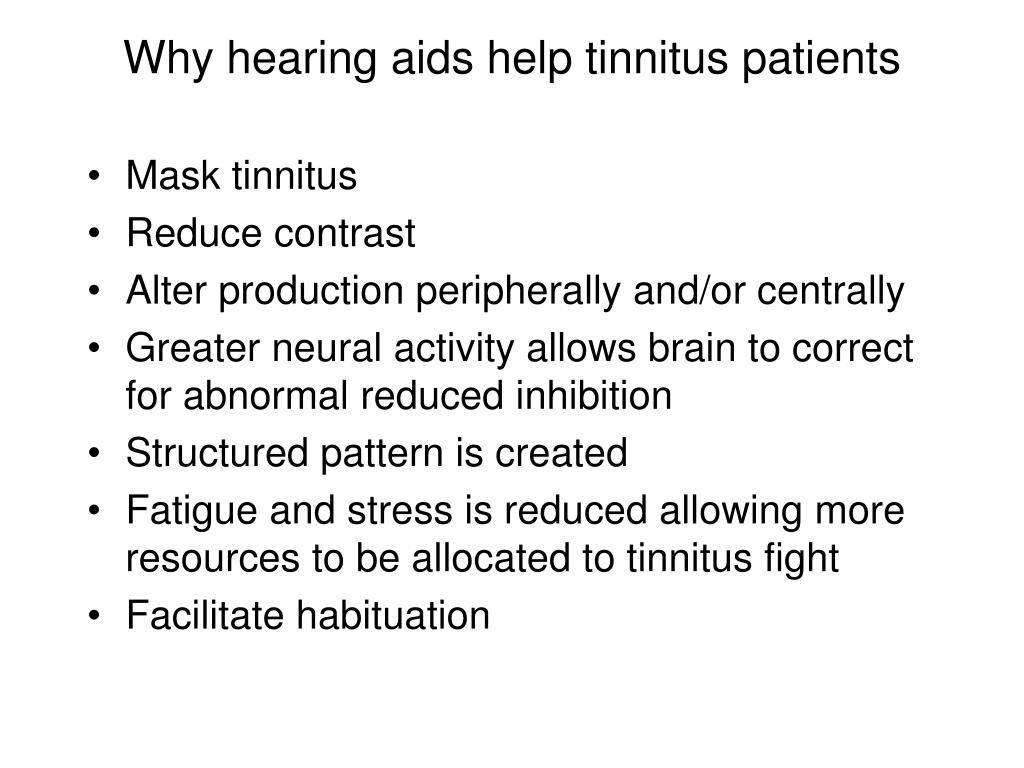 Why hearing aids help tinnitus patients