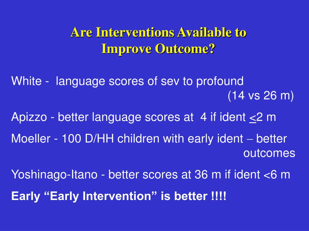 Are Interventions Available to
