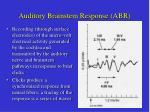 auditory brainstem response abr