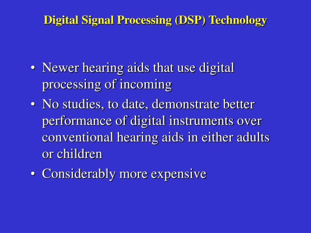 Digital Signal Processing (DSP) Technology