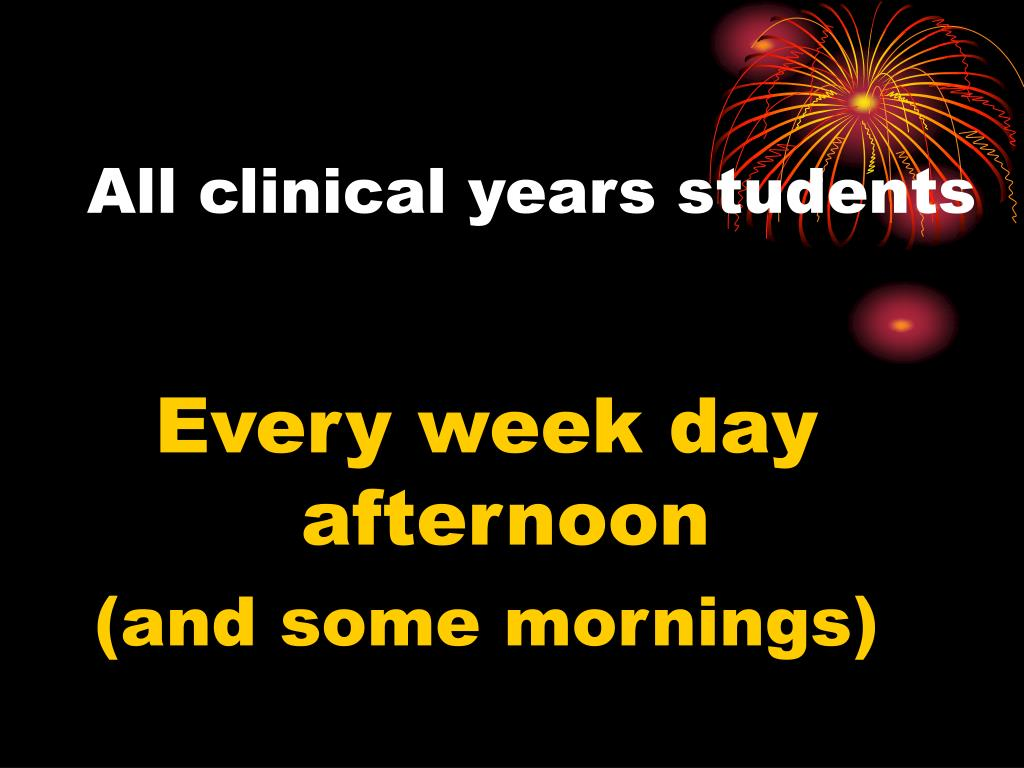 All clinical years students