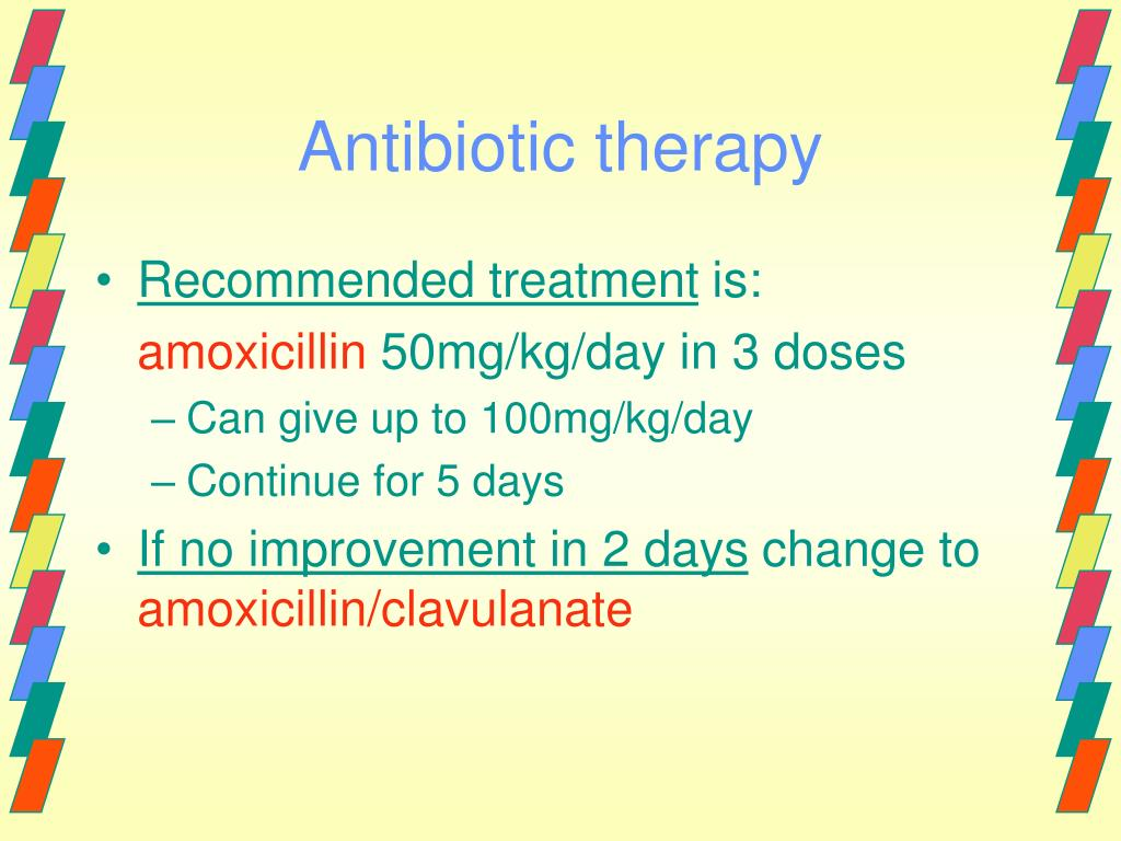 Antibiotic therapy