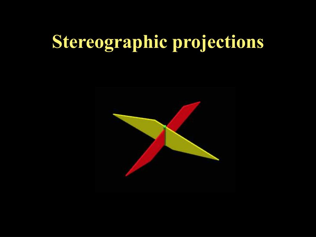 stereographic projections l.