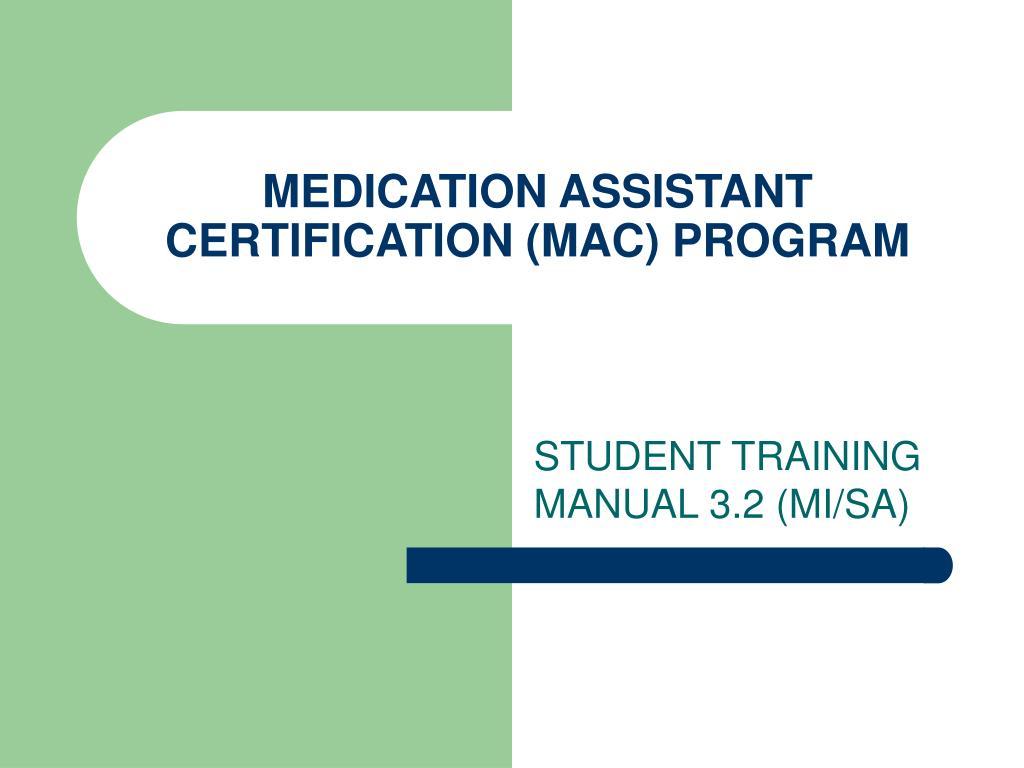 medication assistant certification mac program l.